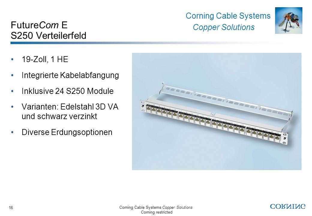 FutureCom E S250 Verteilerfeld