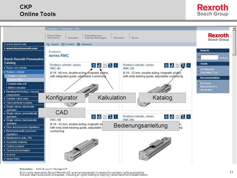 CKP Online Tools Konfigurator Kalkulation Katalog CAD