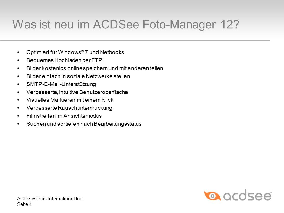 Was ist neu im ACDSee Foto-Manager 12