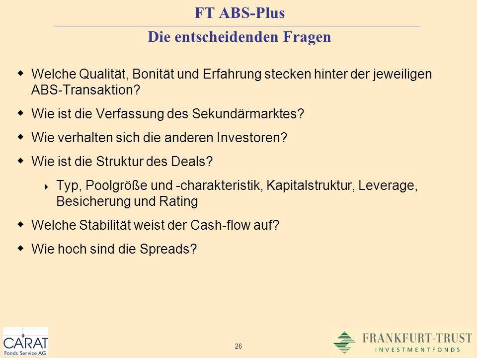 FT ABS-Plus Die entscheidenden Fragen