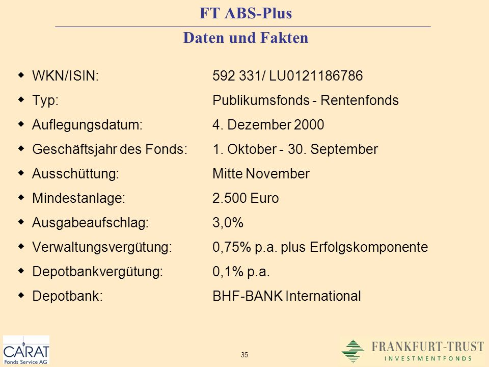 FT ABS-Plus Daten und Fakten