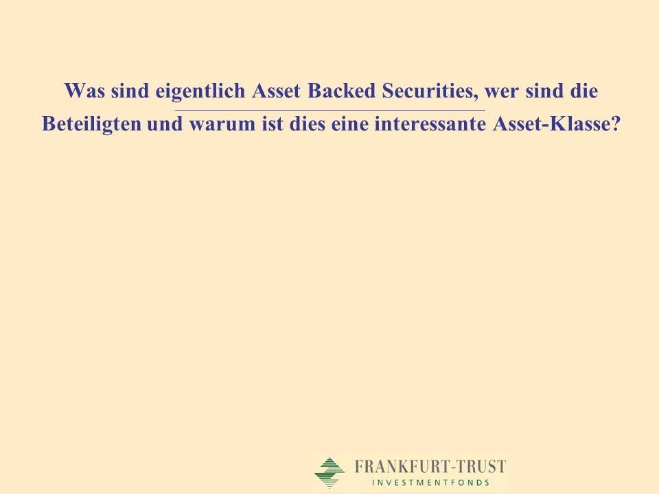 Was sind eigentlich Asset Backed Securities, wer sind die Beteiligten und warum ist dies eine interessante Asset-Klasse