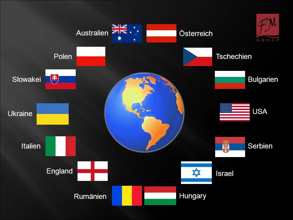 Australien Österreich. Polen. Tschechien. Slowakei. Bulgarien. USA. Ukraine. Italien. Serbien.