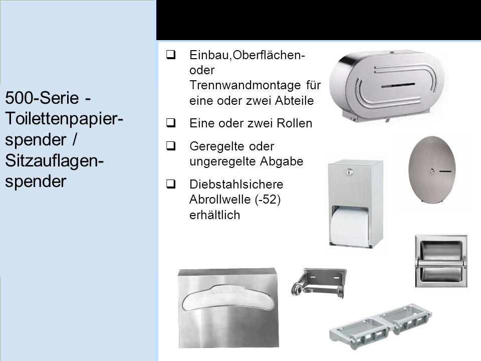 500-Serie - Toilettenpapier-spender / Sitzauflagen-spender