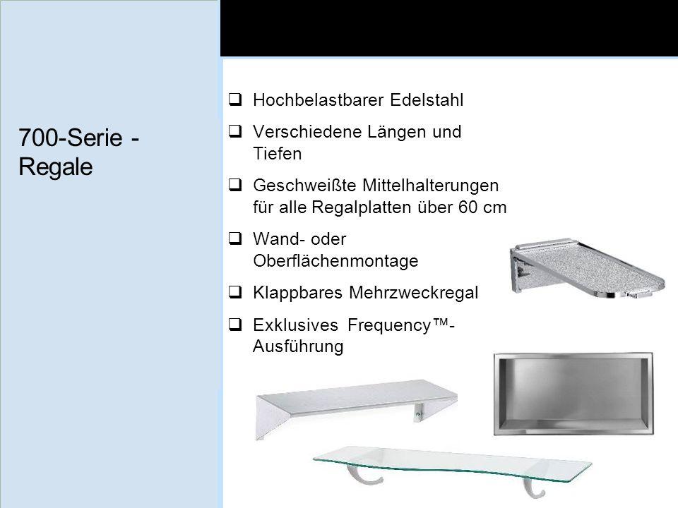 700-Serie - Regale Hochbelastbarer Edelstahl