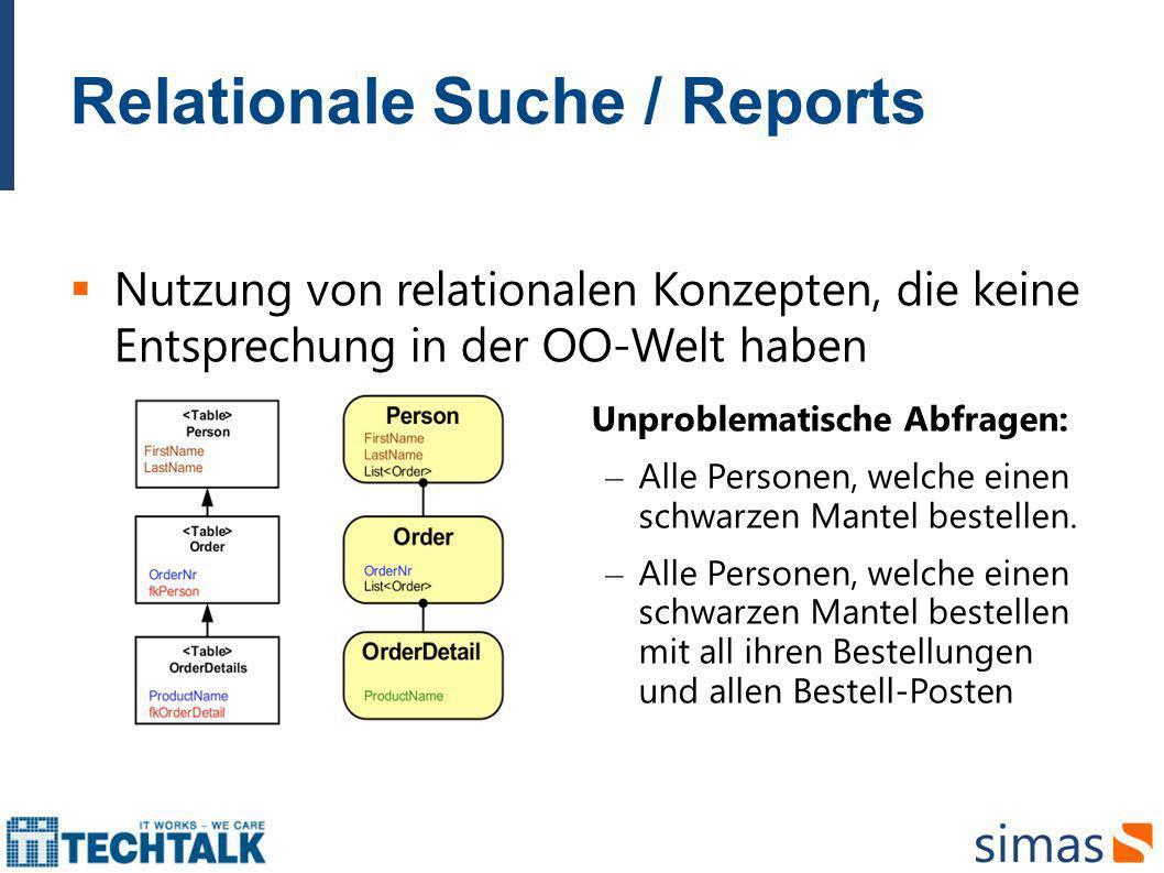Relationale Suche / Reports