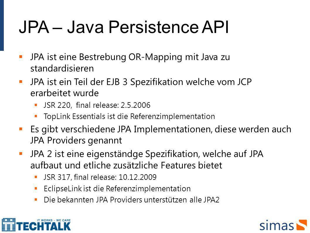 JPA – Java Persistence API