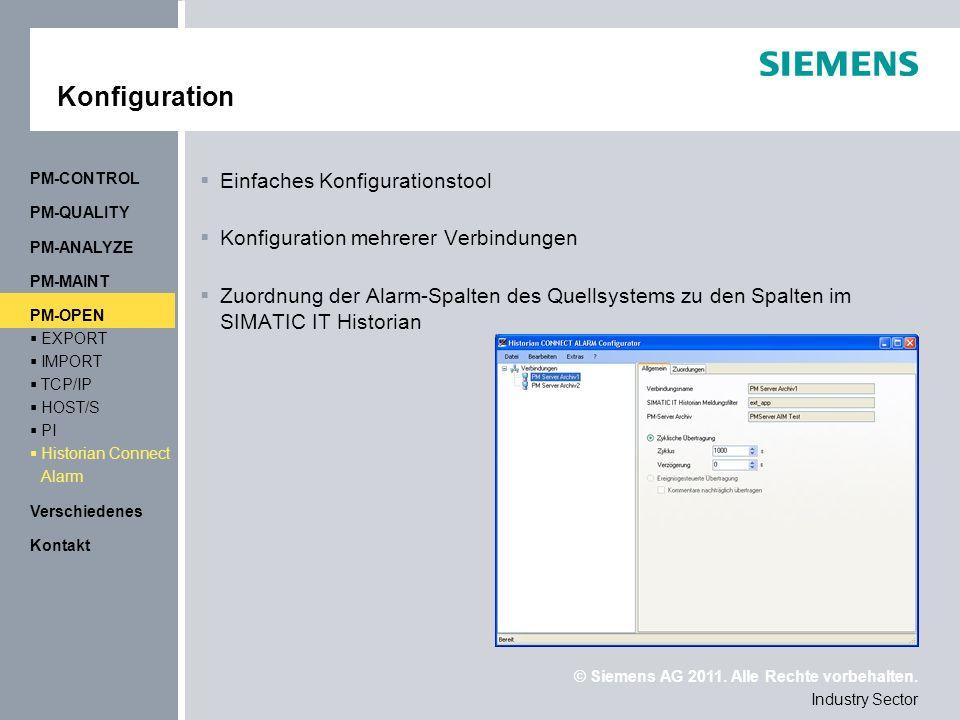 Konfiguration Einfaches Konfigurationstool