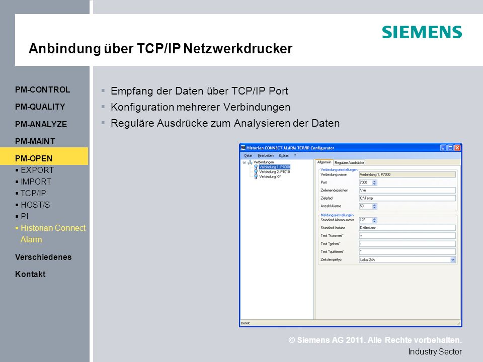 Anbindung über TCP/IP Netzwerkdrucker