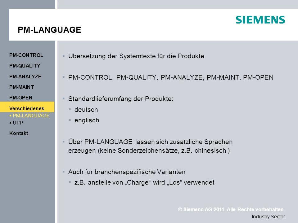 PM-LANGUAGE Übersetzung der Systemtexte für die Produkte