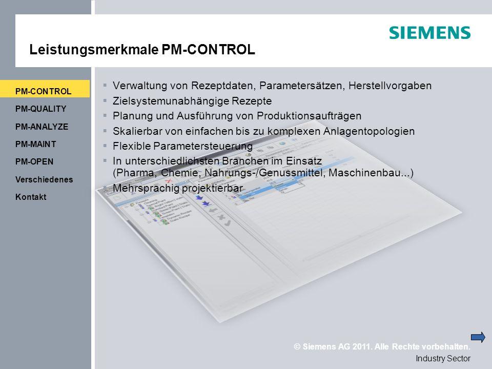 Leistungsmerkmale PM-CONTROL