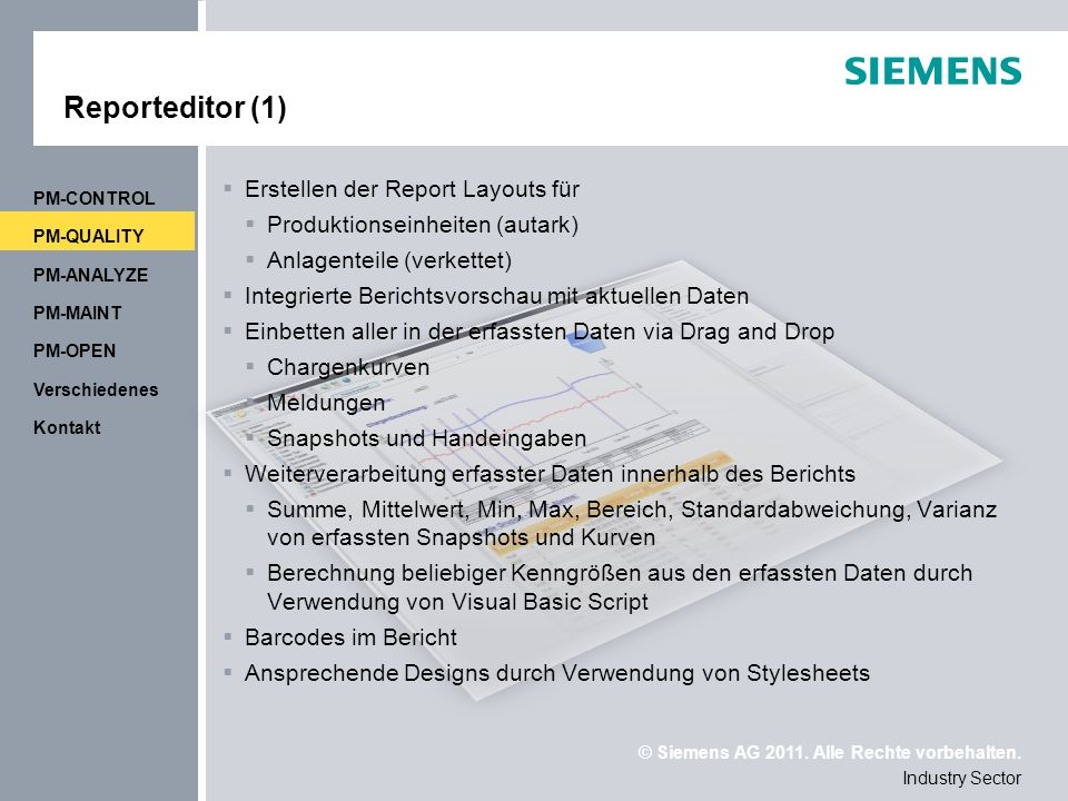 Reporteditor (1) Erstellen der Report Layouts für