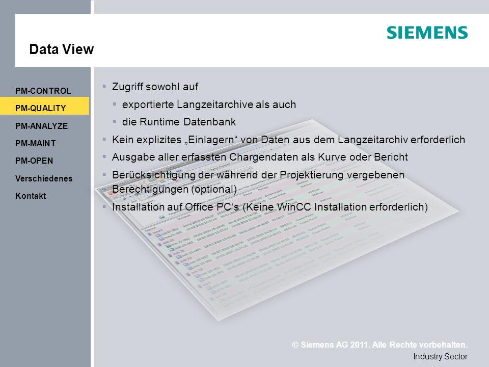 Data View Zugriff sowohl auf exportierte Langzeitarchive als auch