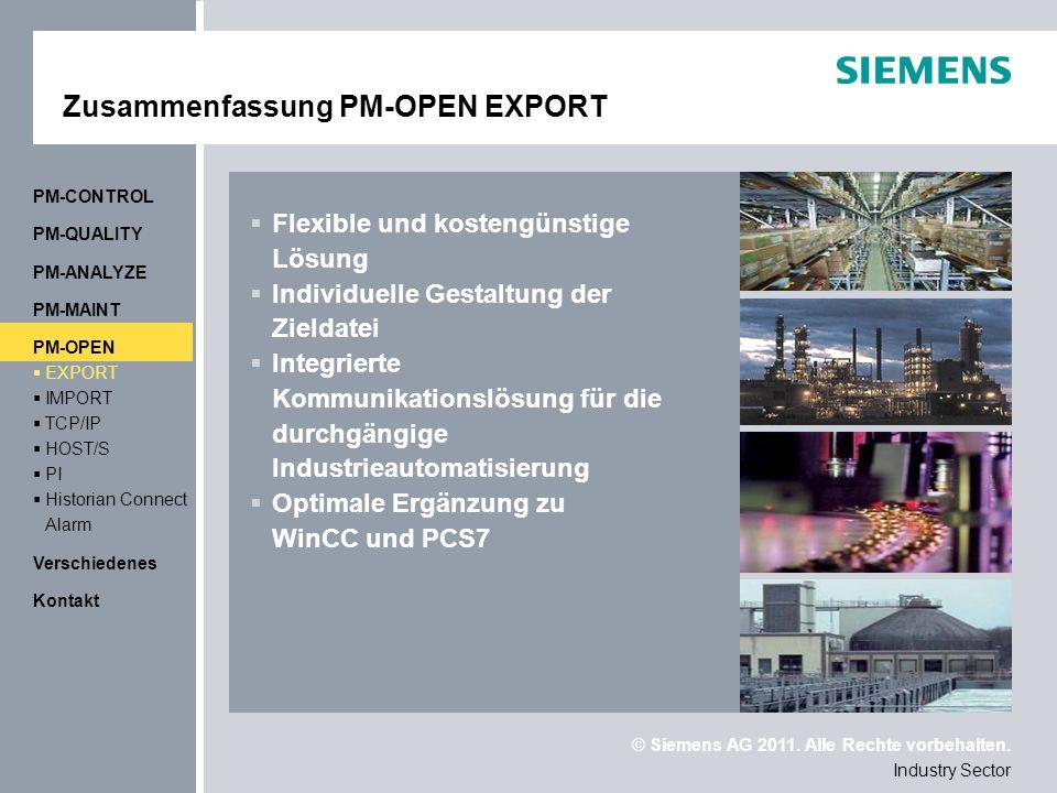 Zusammenfassung PM-OPEN EXPORT