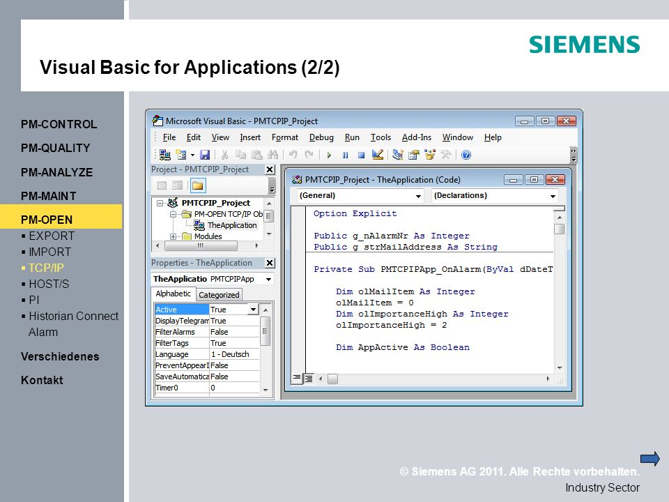 Visual Basic for Applications (2/2)