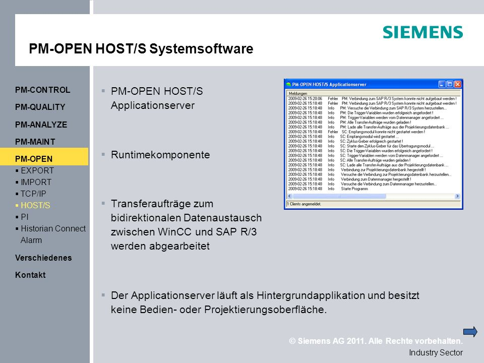 PM-OPEN HOST/S Systemsoftware