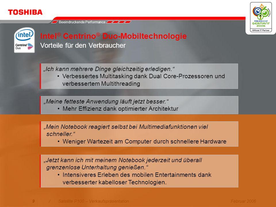 Intel® Centrino® Duo-Mobiltechnologie Vorteile für den Verbraucher