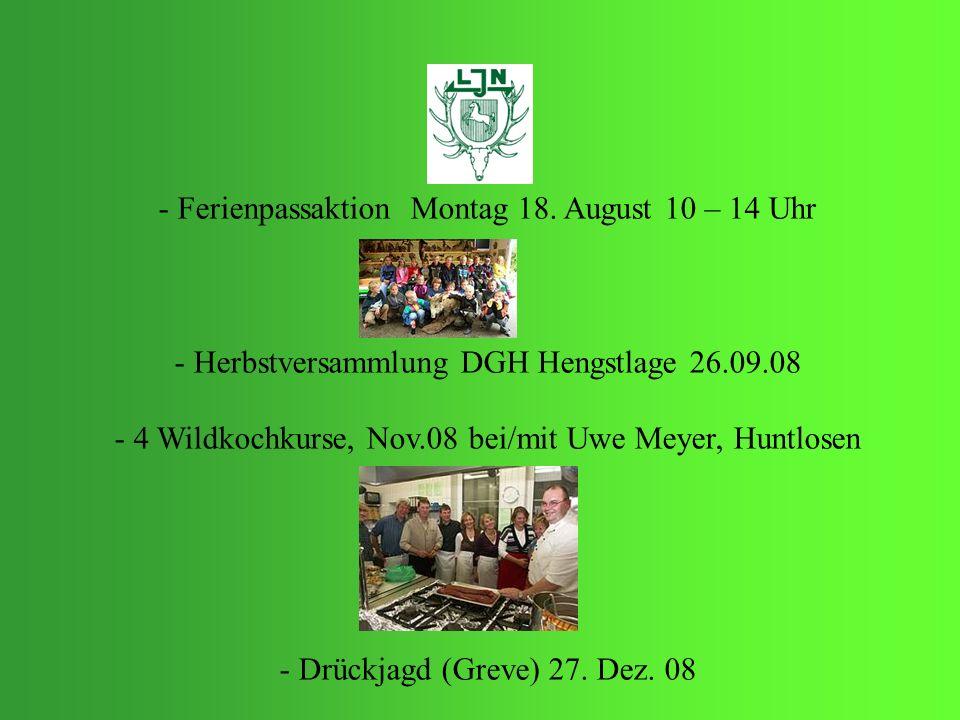 Ferienpassaktion Montag 18. August 10 – 14 Uhr