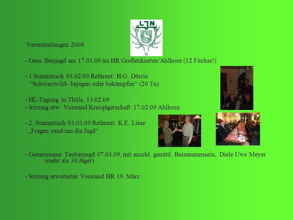 - Gem. Baujagd am 17.01.09 im HR Großenkneten/Ahlhorn (12 Füchse!)