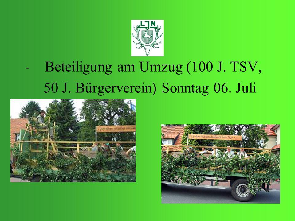 Beteiligung am Umzug (100 J. TSV,