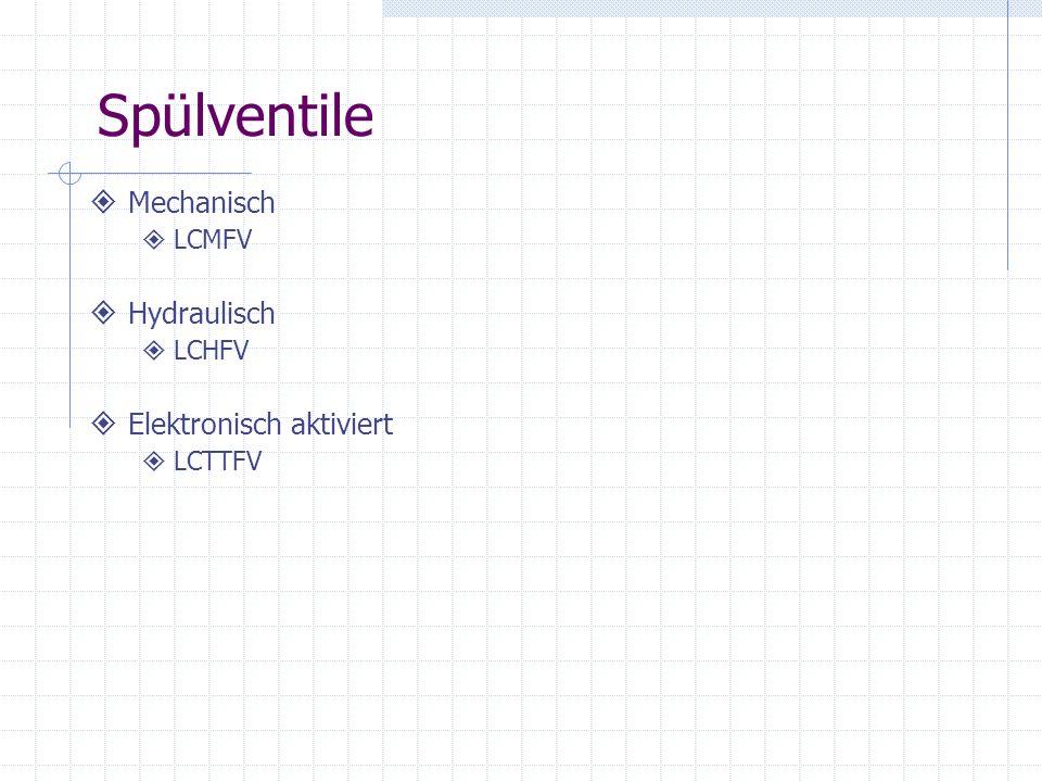 Spülventile Mechanisch Hydraulisch Elektronisch aktiviert LCMFV LCHFV