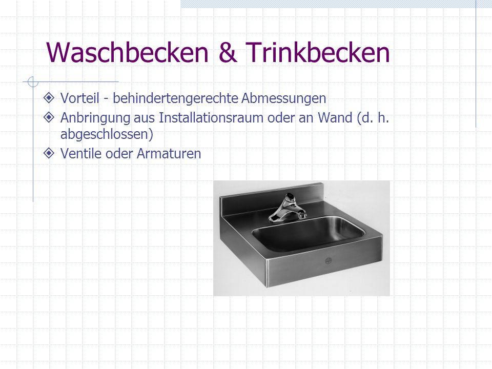 Waschbecken & Trinkbecken