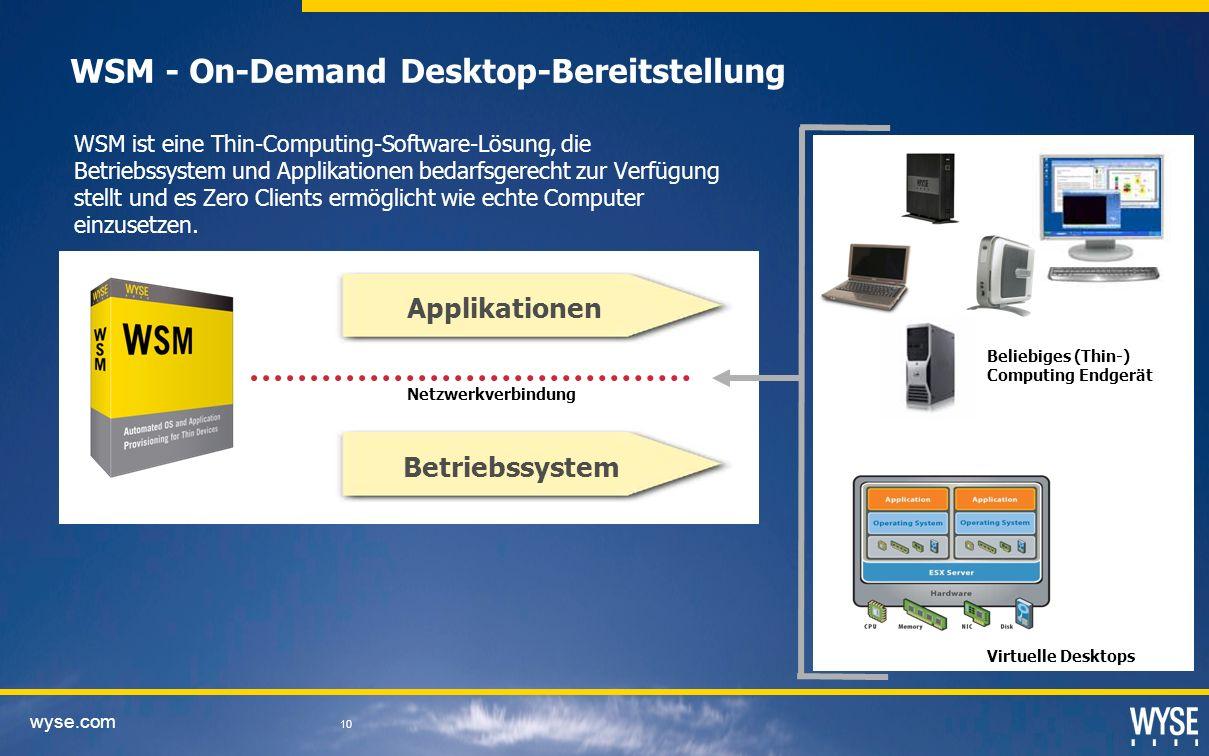 WSM - On-Demand Desktop-Bereitstellung