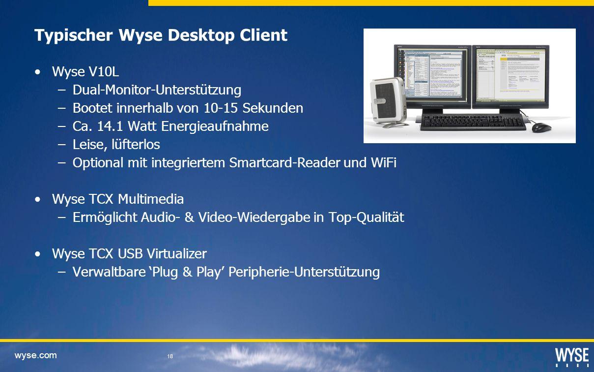 Typischer Wyse Desktop Client