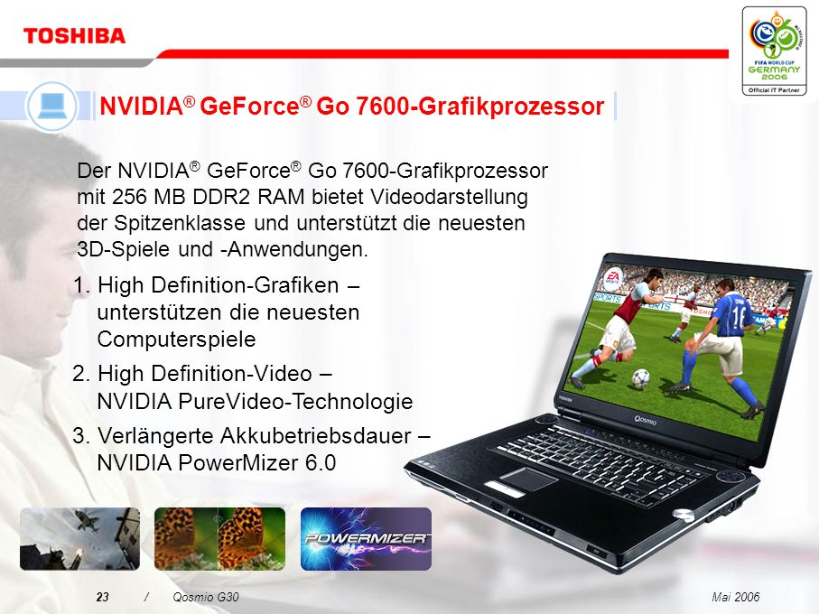 NVIDIA® GeForce® Go 7600-Grafikprozessor