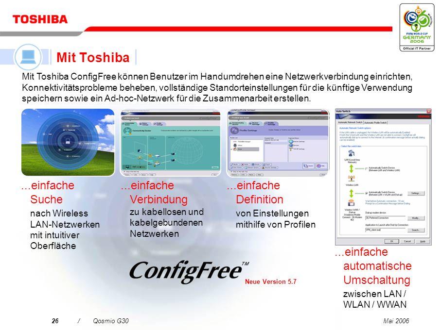 Mit Toshiba ...einfache Suche