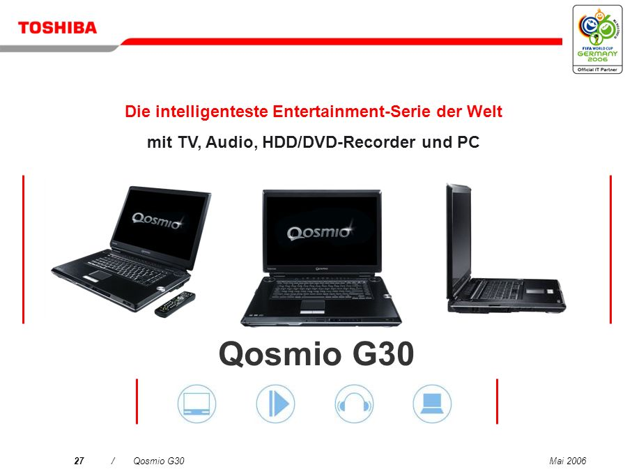 Qosmio G30 Die intelligenteste Entertainment-Serie der Welt