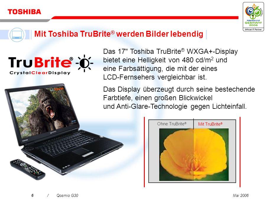 Mit Toshiba TruBrite® werden Bilder lebendig