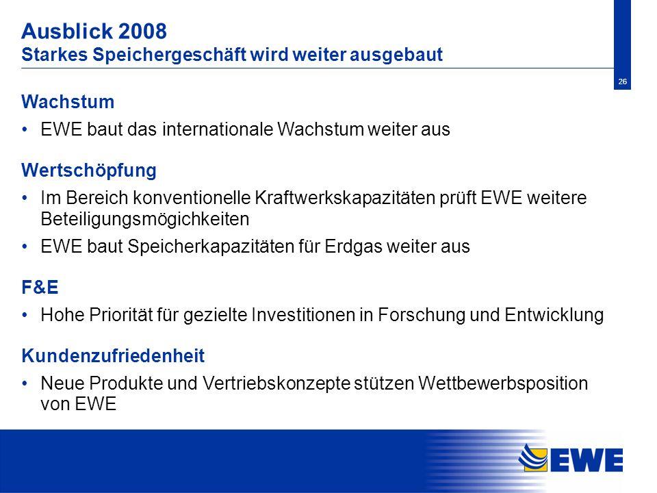 Ausblick 2008 Starkes Speichergeschäft wird weiter ausgebaut