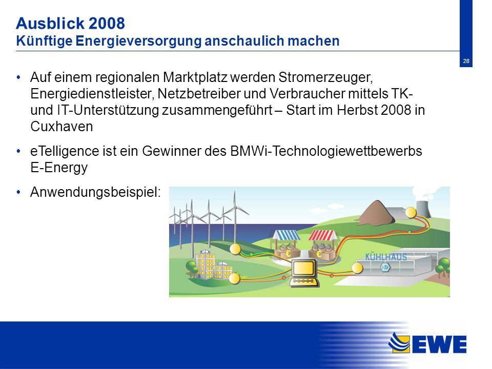 Ausblick 2008 Künftige Energieversorgung anschaulich machen