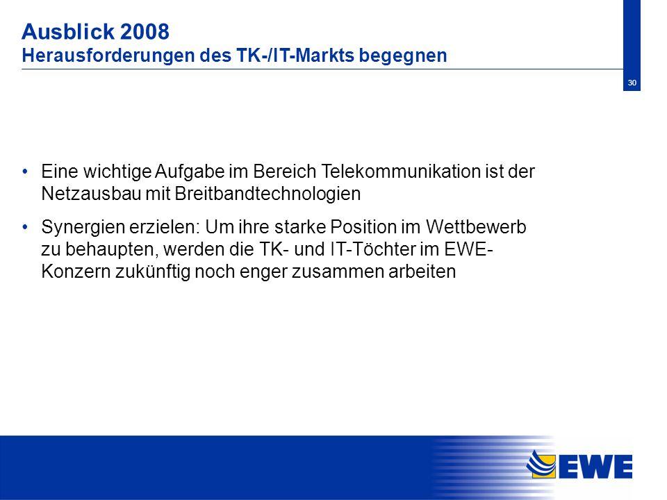 Ausblick 2008 Herausforderungen des TK-/IT-Markts begegnen