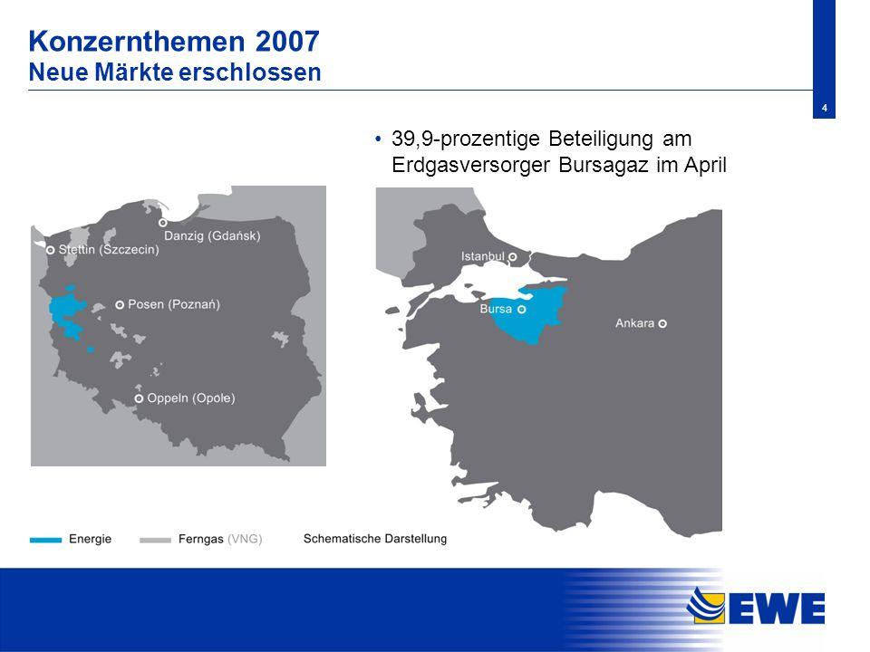 Konzernthemen 2007 Neue Märkte erschlossen
