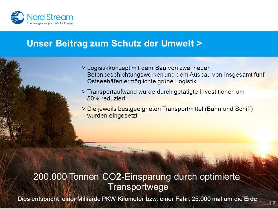 Unser Beitrag zum Schutz der Umwelt >