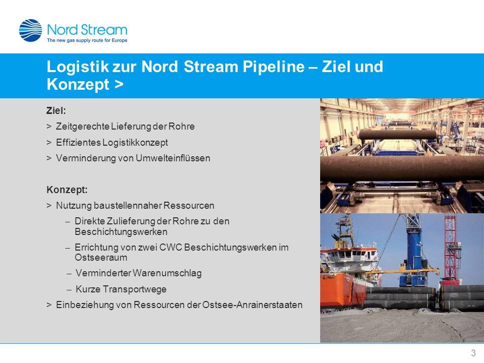 Logistik zur Nord Stream Pipeline – Ziel und Konzept >