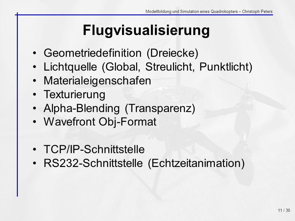 Flugvisualisierung Geometriedefinition (Dreiecke)