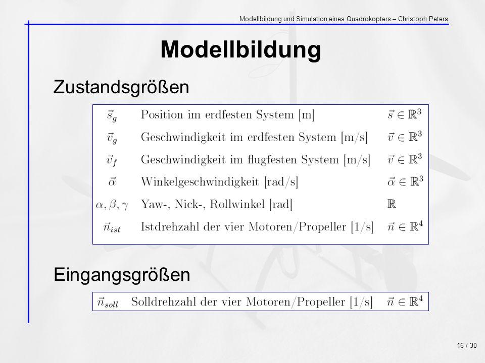 Modellbildung Zustandsgrößen Eingangsgrößen
