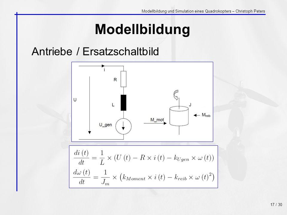 Modellbildung Antriebe / Ersatzschaltbild