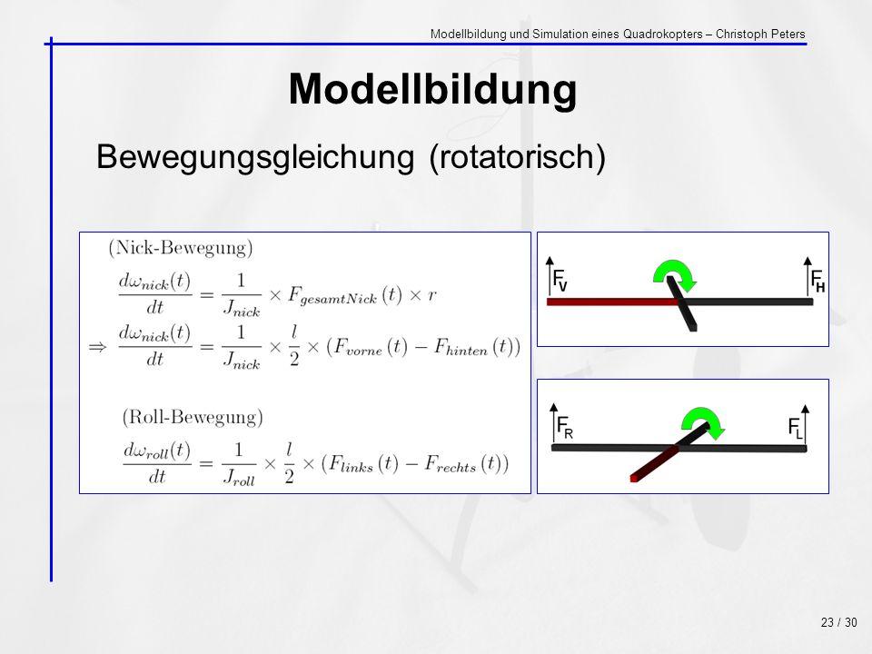 Modellbildung Bewegungsgleichung (rotatorisch)