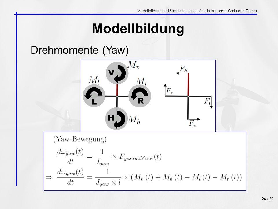 Modellbildung Drehmomente (Yaw)