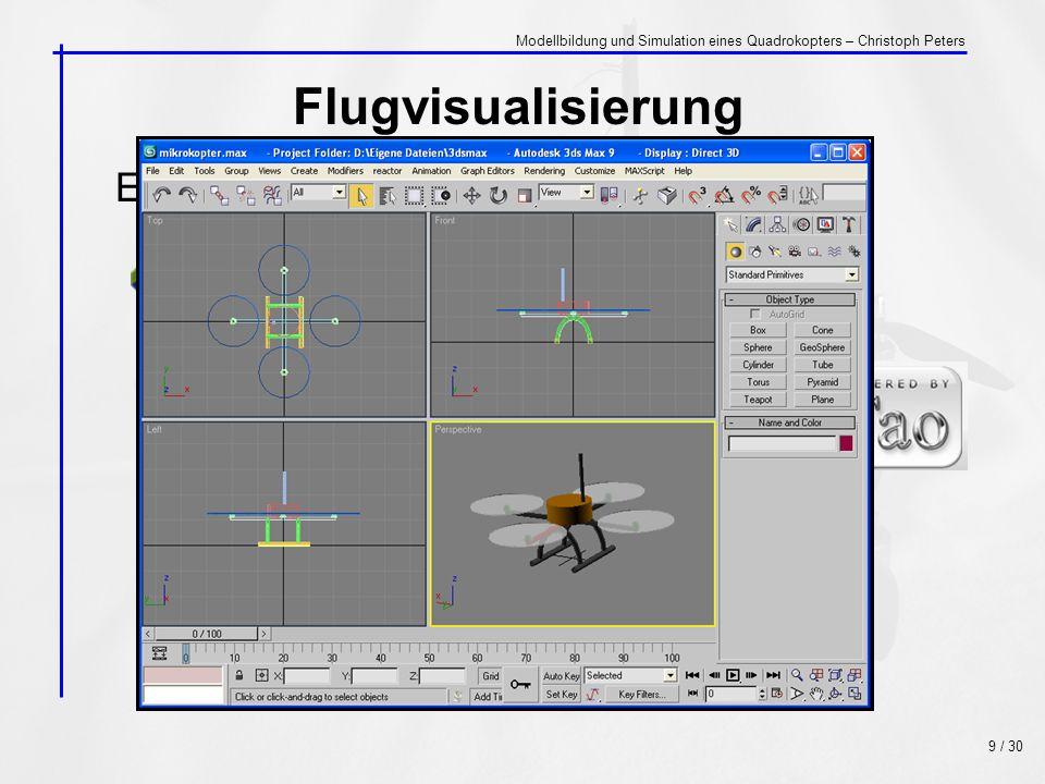 Flugvisualisierung mit C# Eingesetzte Entwicklungssoftware: +