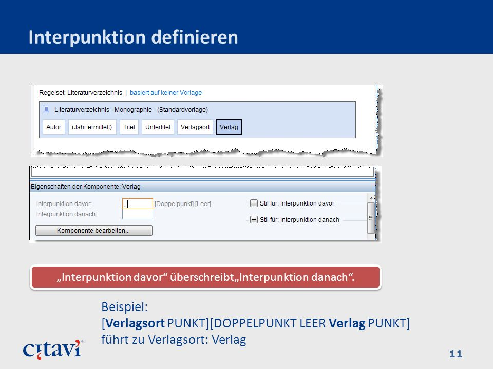 Interpunktion definieren