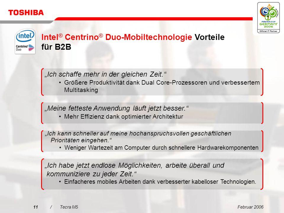 Intel® Centrino® Duo-Mobiltechnologie Vorteile für B2B