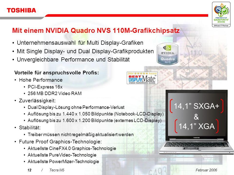 Mit einem NVIDIA Quadro NVS 110M-Grafikchipsatz