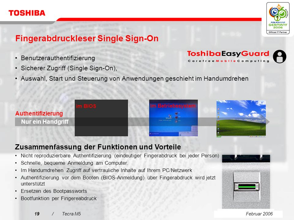 Fingerabdruckleser Single Sign-On