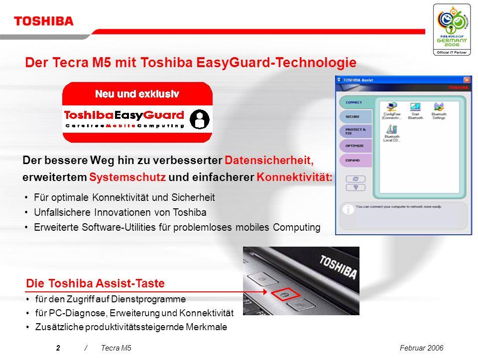 Der Tecra M5 mit Toshiba EasyGuard-Technologie