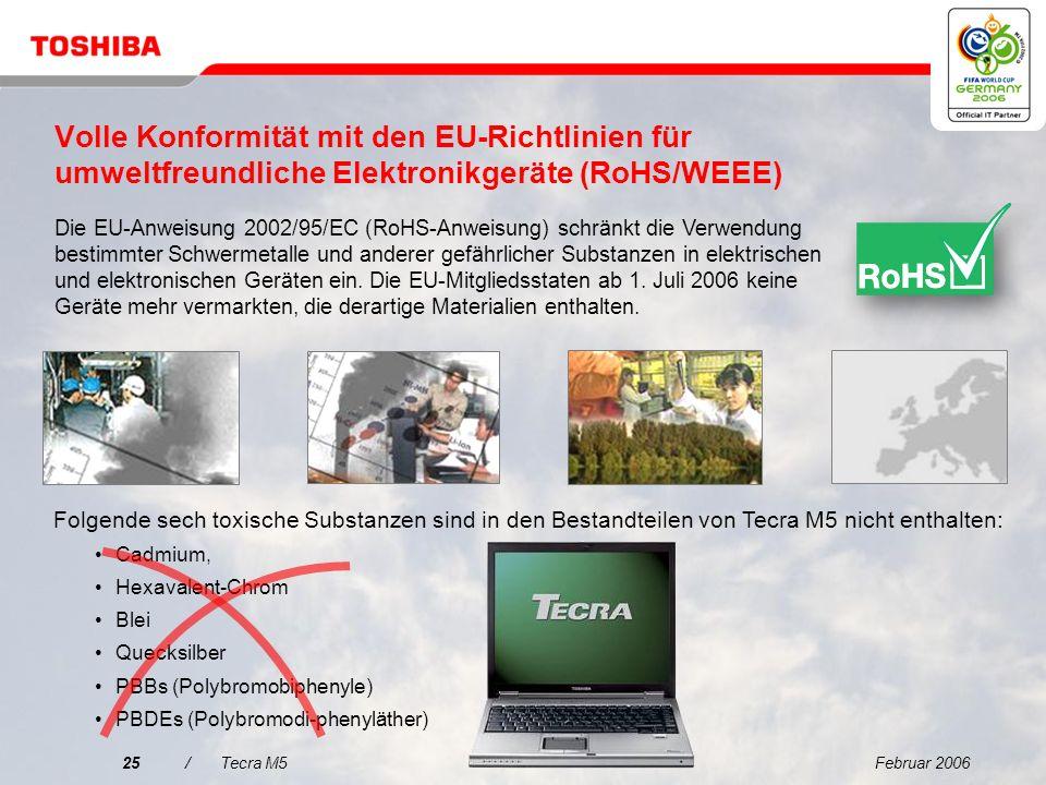 Volle Konformität mit den EU-Richtlinien für umweltfreundliche Elektronikgeräte (RoHS/WEEE)